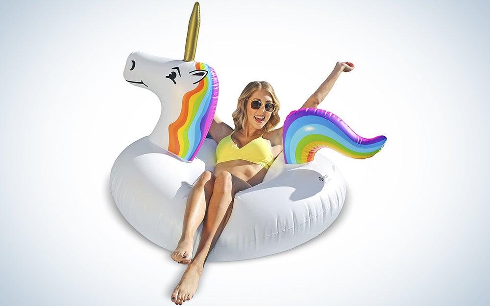 GoFloats Unicorn Pool Float Party Tube