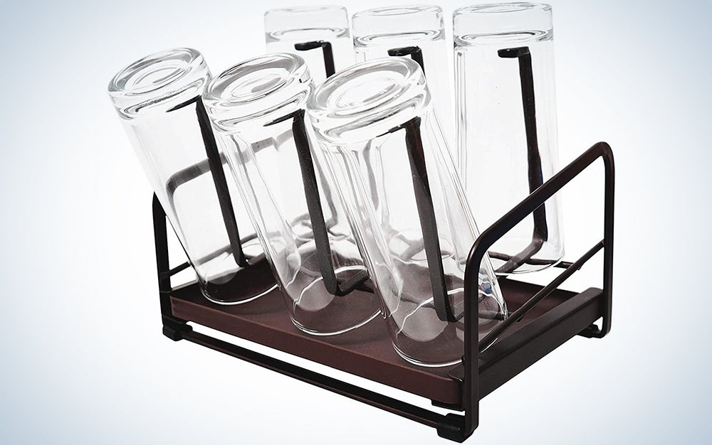 YEAVS Cup Drying Rack with Drain Tray