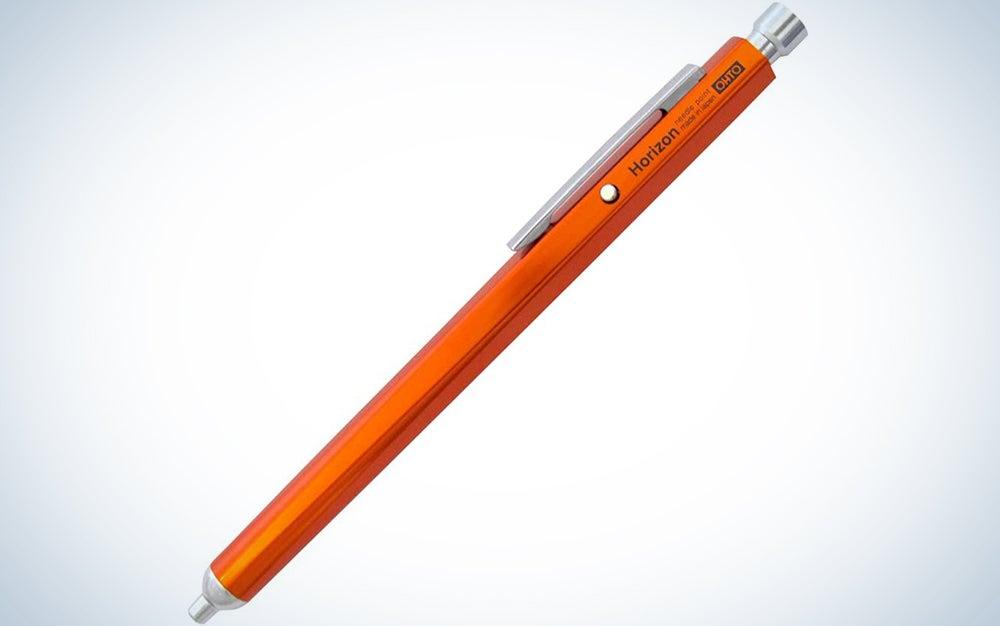 Ohto Horizon Aluminum Hexagon Barrel Needlepoint Ballpoint Pen