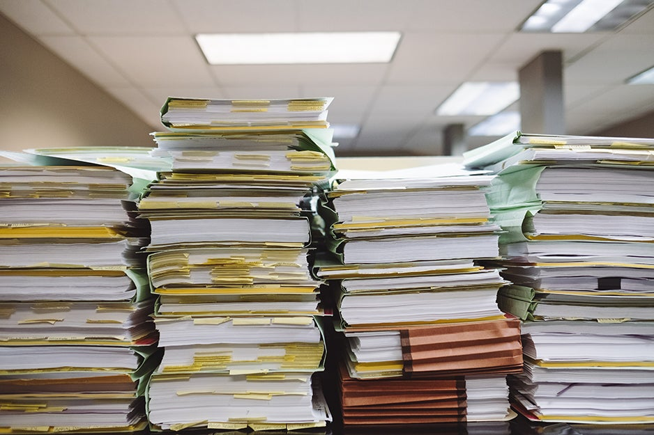 stacks of papers