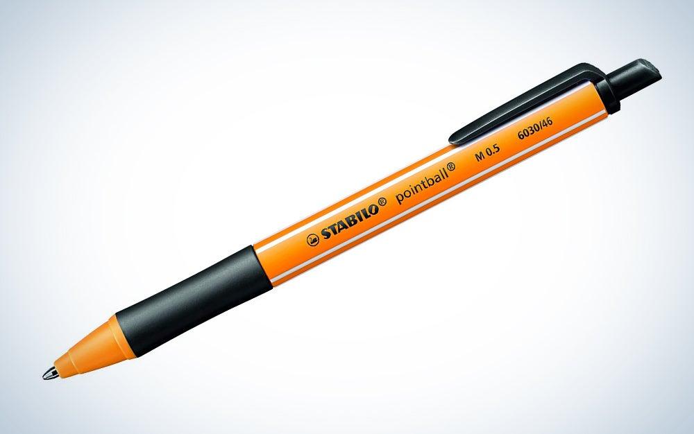 Stabilo 'Pointball' Retractable Ballpoint Pen Black Ink