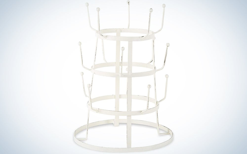 DII 3 Tier Countertop or Pantry Vintage Metal Wire Tree Stand