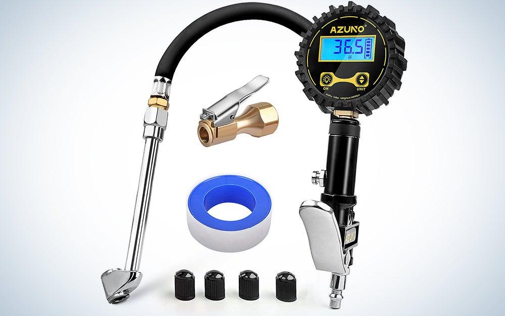 Azuno Digital Tire Inflator with Pressure Gauge