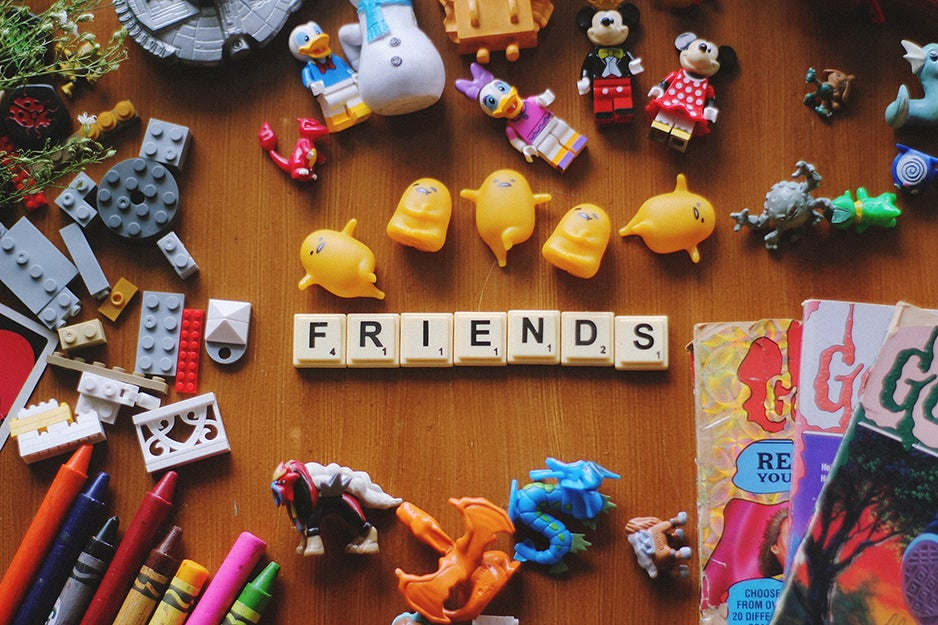 toys on a table