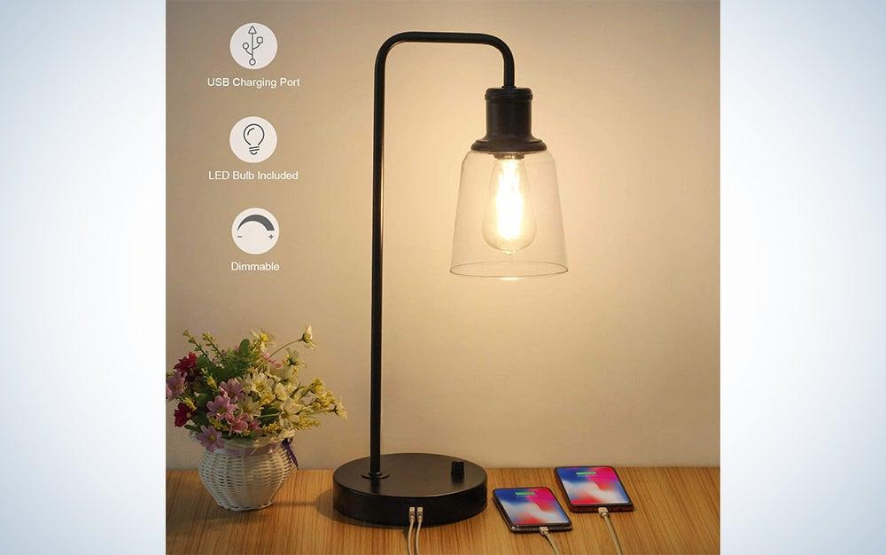 Industrial Vintage Nightstand Lamp