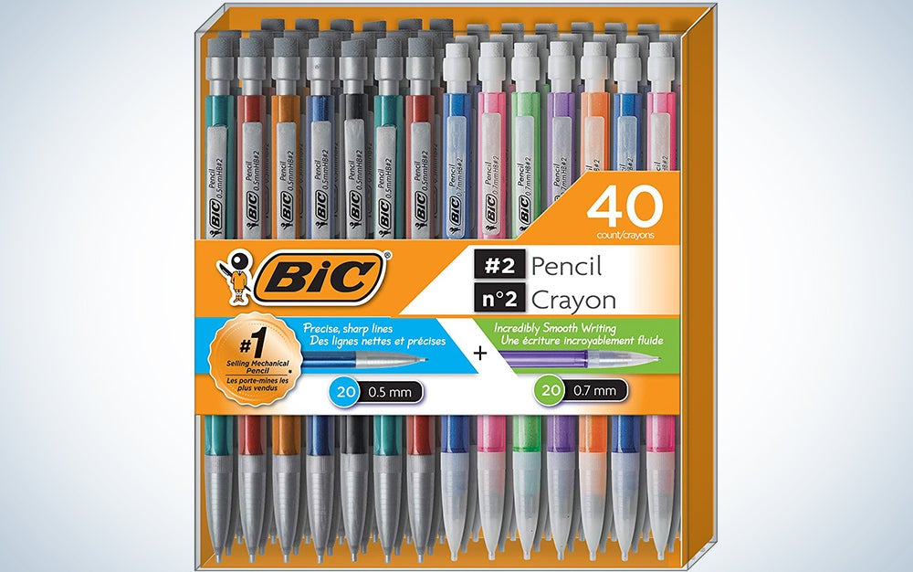 BIC Mechanical Pencil #2 EXTRA SMOOTH, Variety Bulk Pack Of 40 Mechanical Pencils