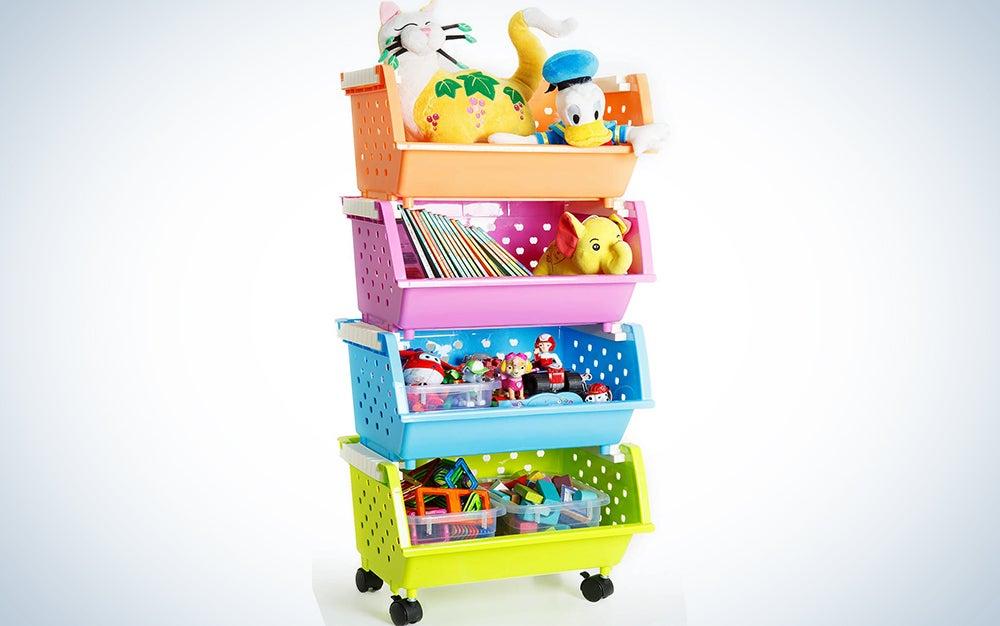 MAGDESIGNER Kids' Toys Storage Organizer Bins Baskets
