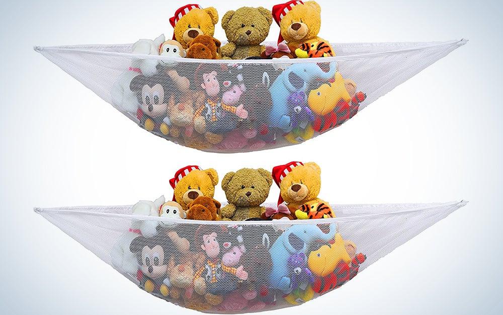 Simplehouseware Stuffed Animal Jumbo Toy Storage Hammock