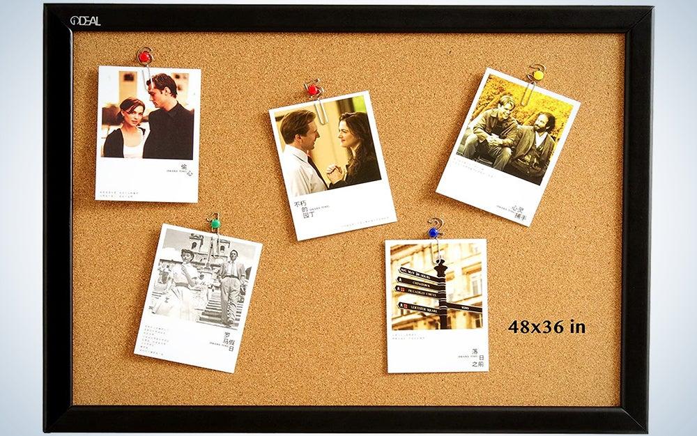 Cork Board Bulletin Board 48 x 36 Inch