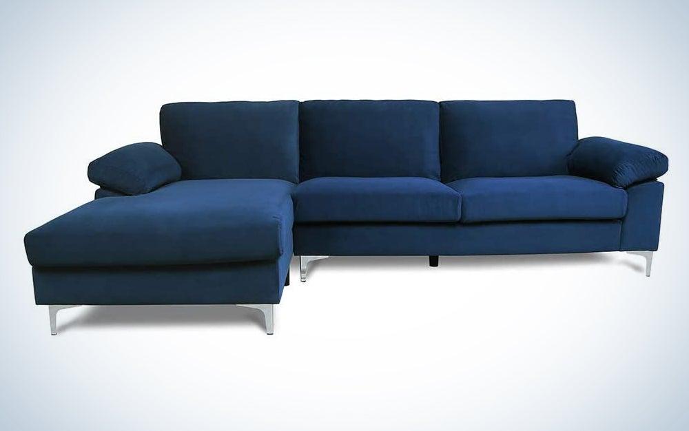 UStinsa Modern Classic Upholstered Sectional Sofa