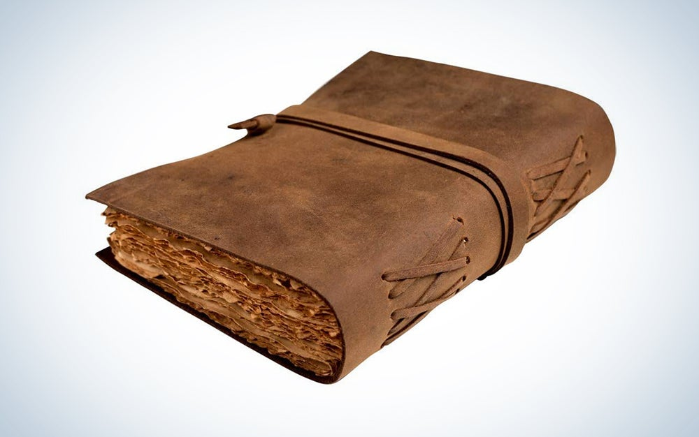 Extra Large Leather Journal - Vintage Leather bound Journal