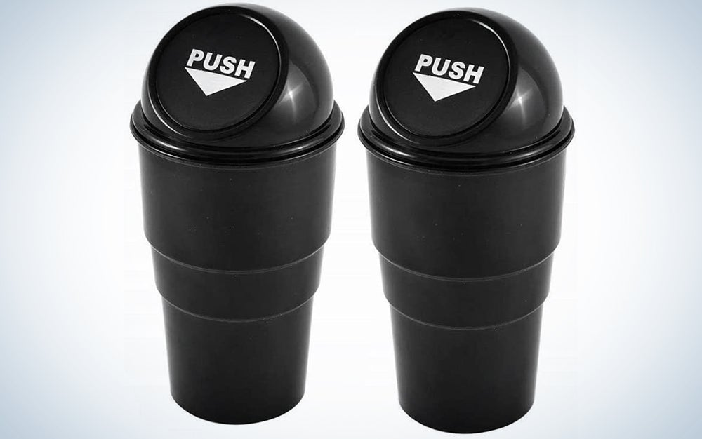 AISIBO Automotive Cup Holder Garbage Can Trash Bin