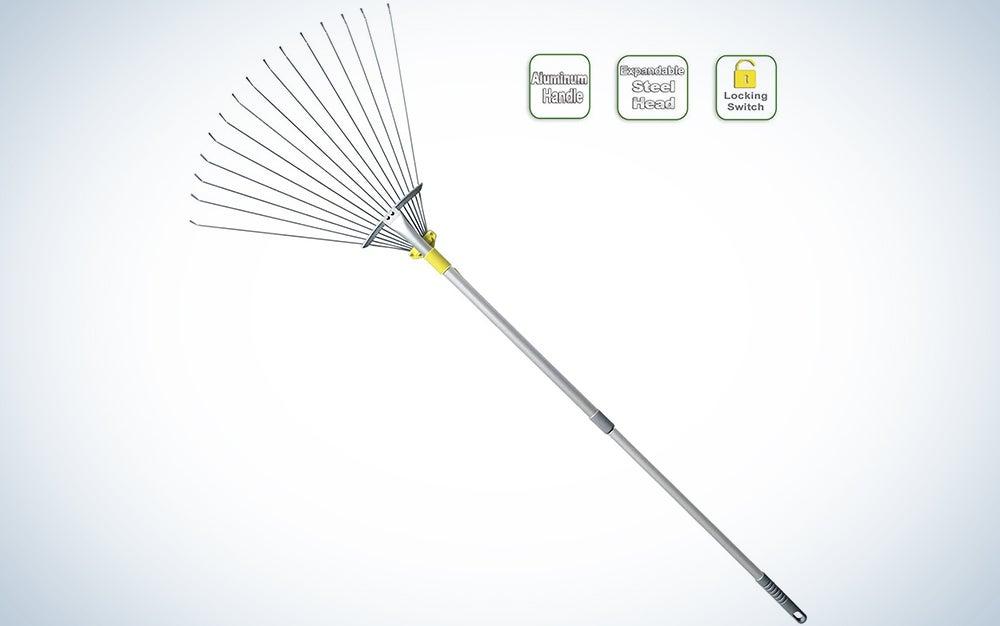 Jardineer 63-inch Adjustable Garden Rake