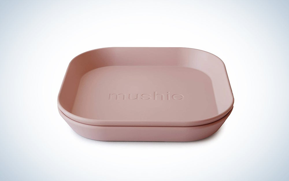 mushie Square Dinnerware Plates for Kids