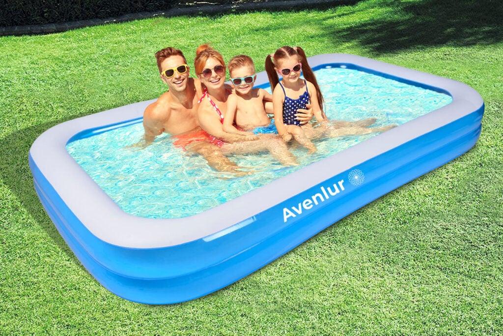 SunClub Inflatable Rectangular Pool