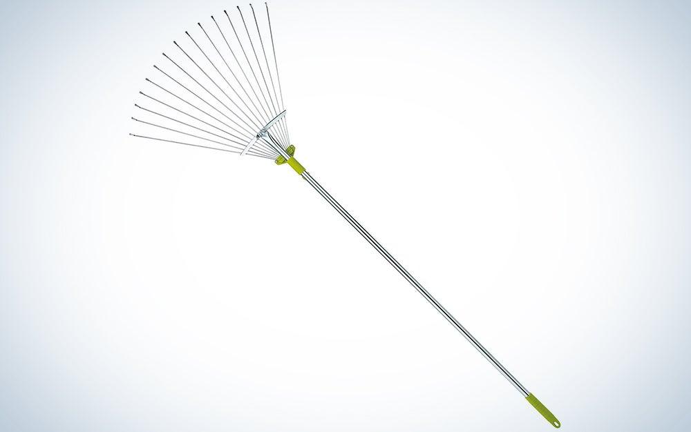 Gardenite 63 Inch Adjustable Garden Leaf Rake