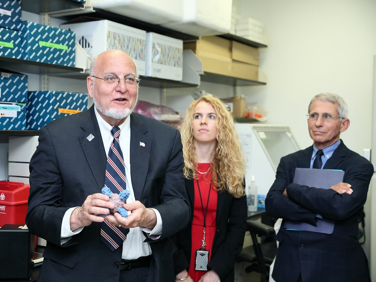 CDC Director Robert Redfield and National Institute of Allergy and Infectious Diseases Director Anthony Fauci in 2018