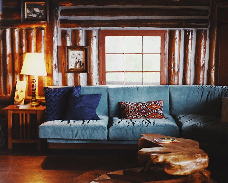 living room in a cottage
