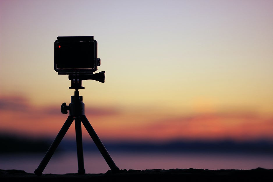 GoPro on a travel tripod