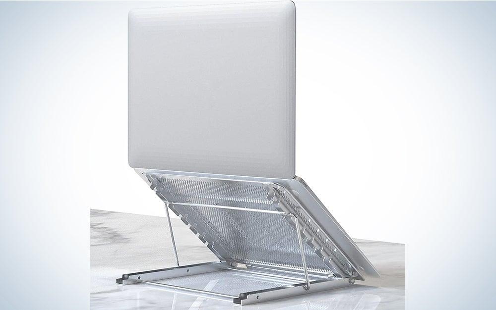 Laptop Stand, Tablet Laptop Holder Stand Foldable Ventilated Adjustable Laptop Computer Holder Desk Stand Universal Lightweight Ergonomic Tray Cooling