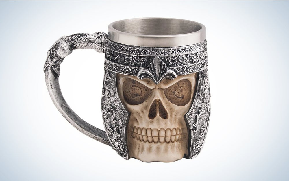 CHICVITA Viking Skull Mug