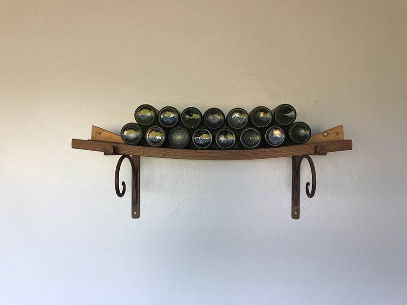 wine on a rack