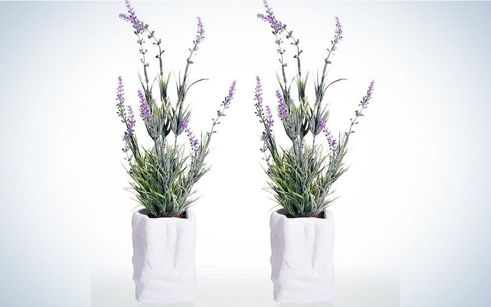 RUICHENG Artificial Plant, Plants Artificial Small Fake Plant Green Mini Plastic Plant Lavender Plant