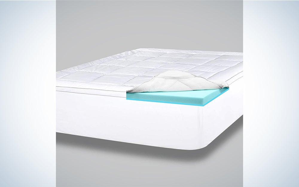ViscoSoft 4 Inch Pillow Top Gel Memory Foam Mattress Topper Twin