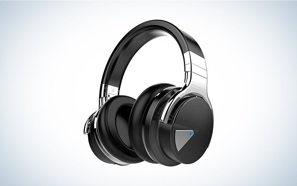 COWIN E7 Active Noise Cancelling Headphones Bluetooth Headphones with Microphone Deep Bass Wireless Headphones Over Ear, Comfortable Protein Earpads, 30 Hours Playtime