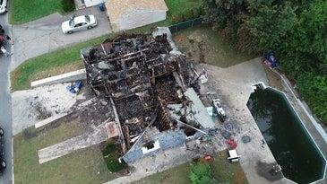 Merrimack Valley destroyed house