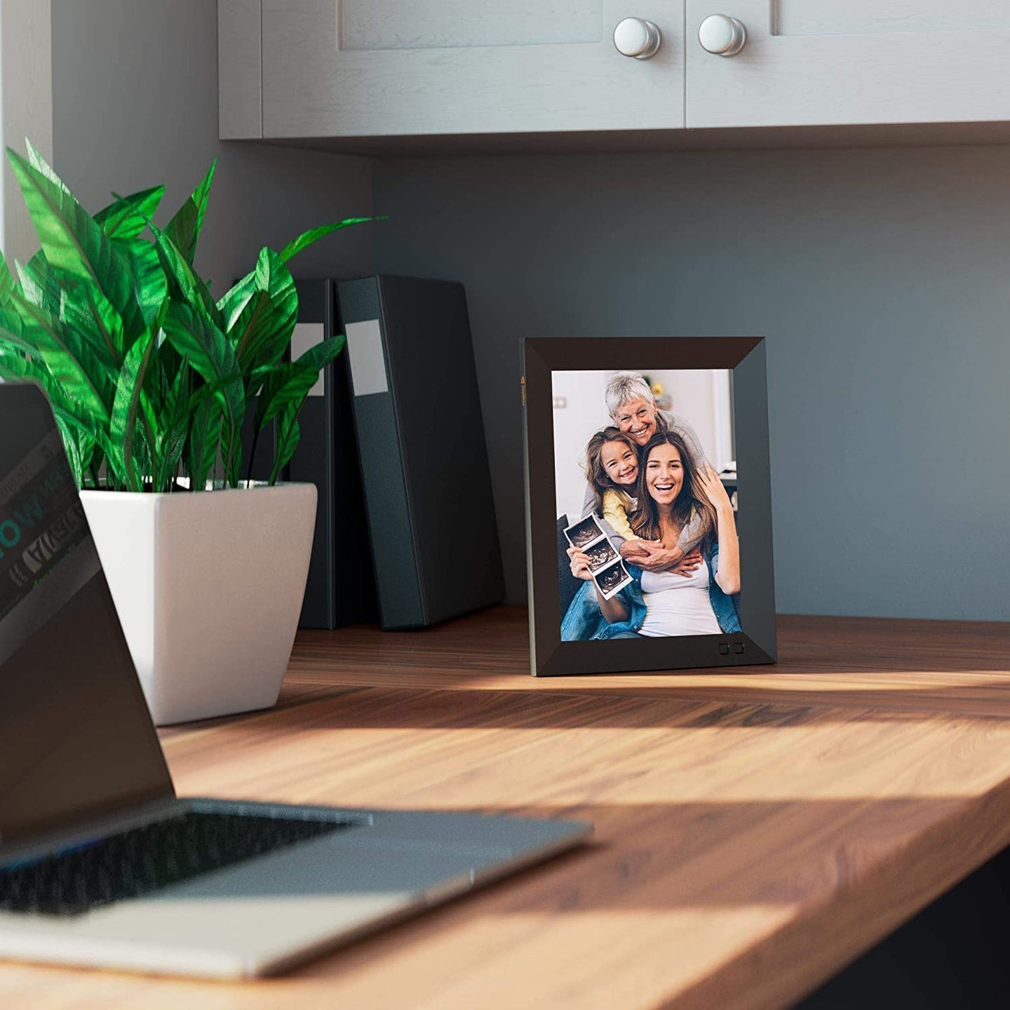 picture frame on a desk