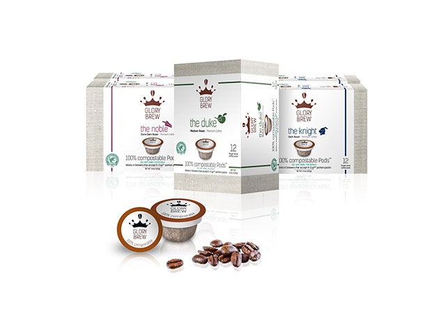 Glorybrew 72 Compostable K-Cup Coffee Pod Bundle
