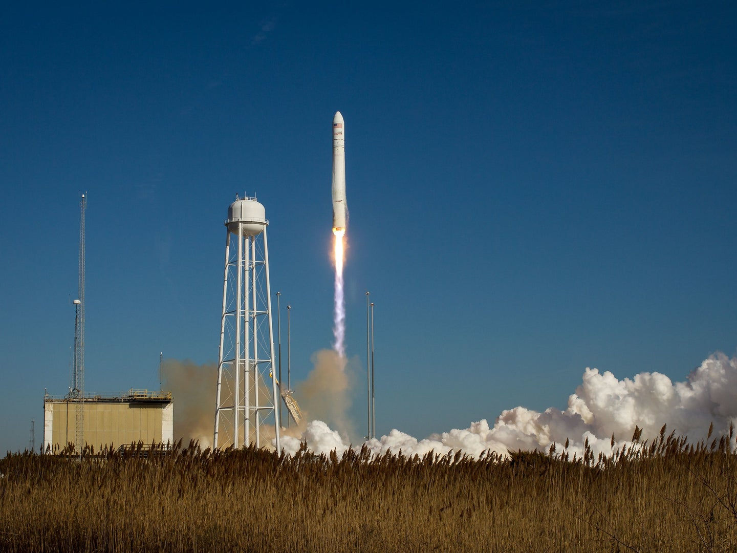 This rocket launched from Pad-0A at NASA's Wallops Flight Facility (Virginia) on Jan. 9, 2014, and also performed a resupply to the ISS—though it did not carry new toilet hardware.