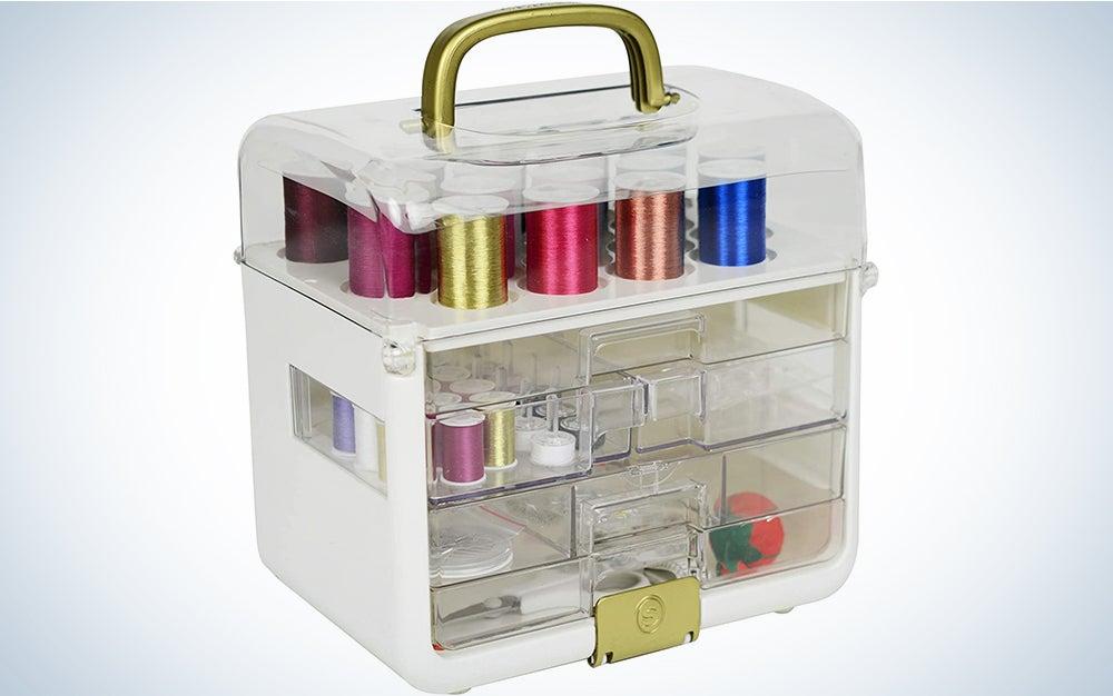 Singer Sew-It-Goes-255 Piece Kit & Craft Organizer Sewing Case
