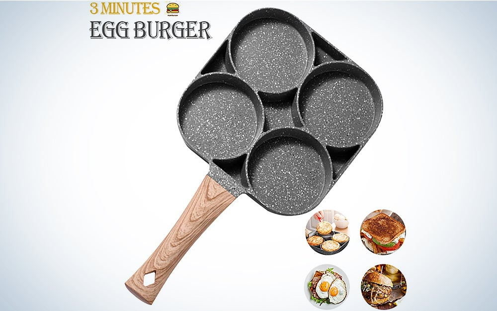 Miugo Egg pan, Aluminum 4-Cup Egg Frying Pan