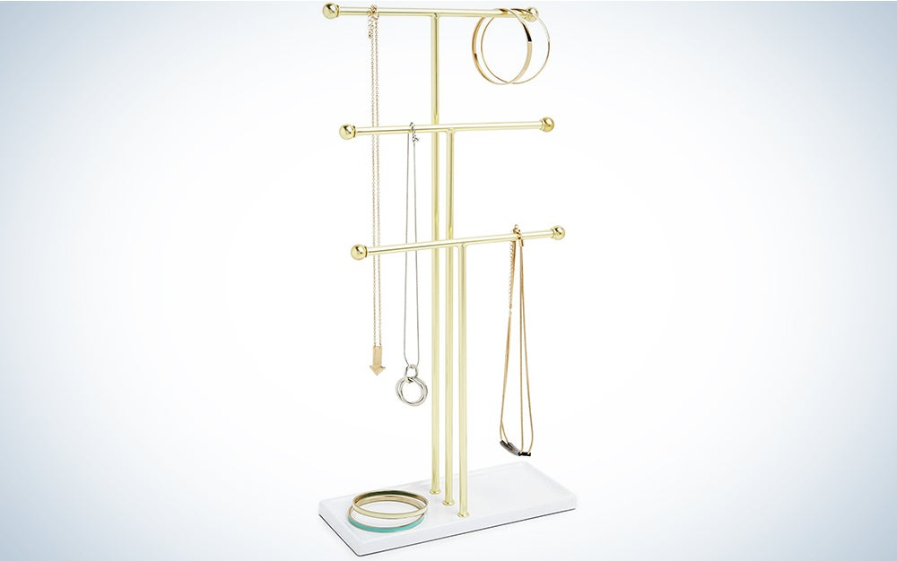 Umbra Hanging Organizer, 3 Tier Table Top Necklace Holder
