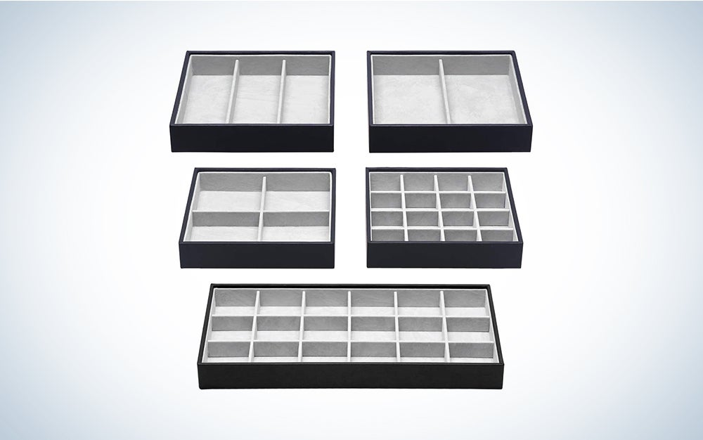 Magic Stackable Jewelry Trays Closet Dresser Drawer Organizer for Accessories, Gadgets & Cosmetics