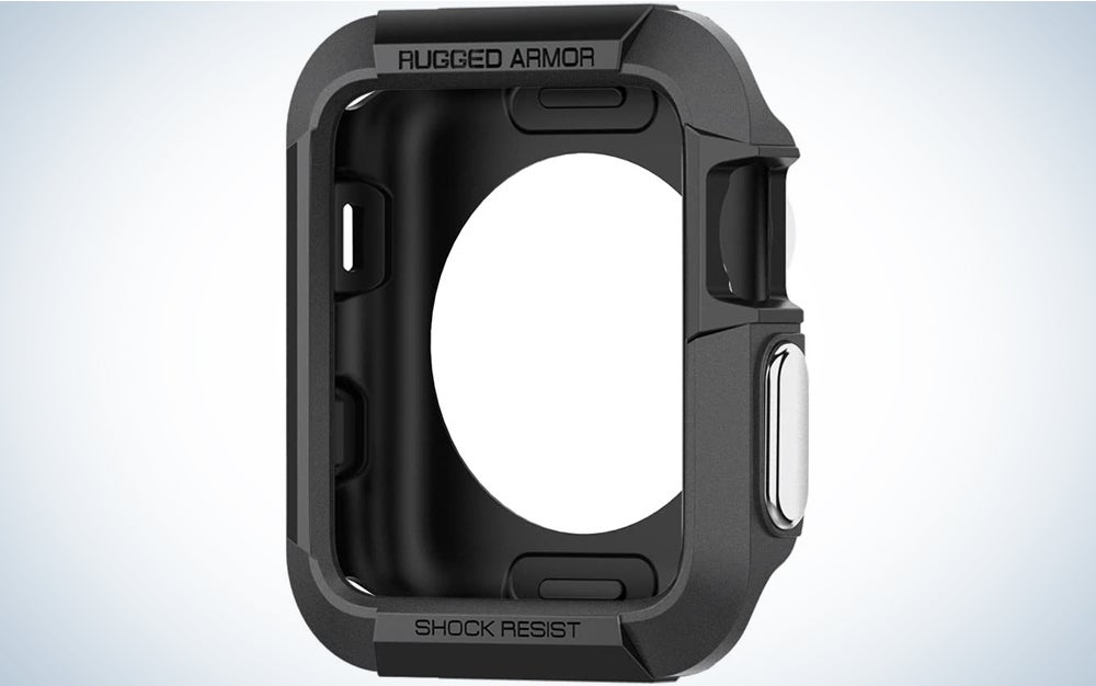 Spigen Rugged Armor Pro Designed for Apple Watch Band with Case for 44mm Series 6/SE/5/4