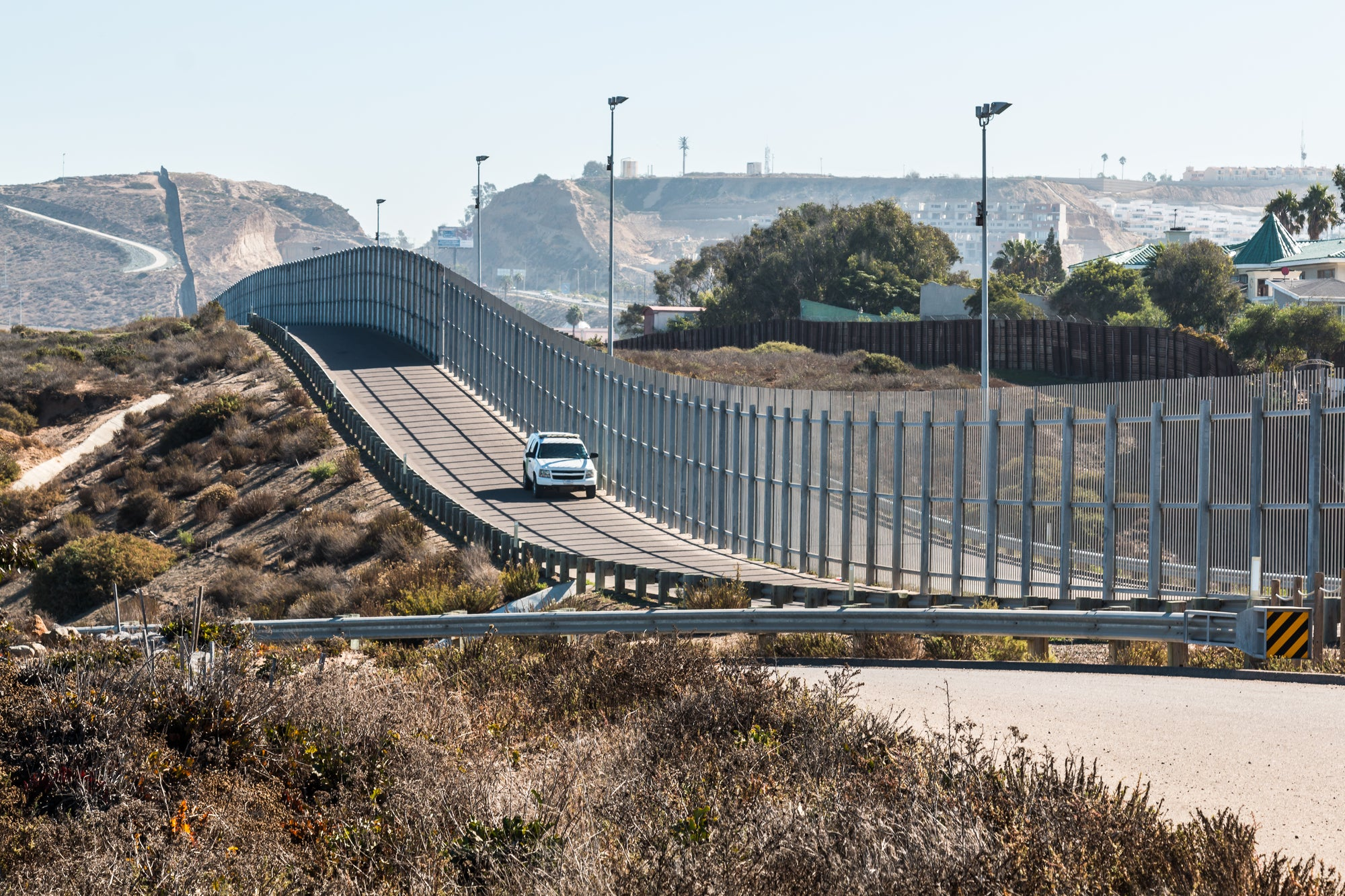 The US-Mexico border wall in Tijuana and San Diego