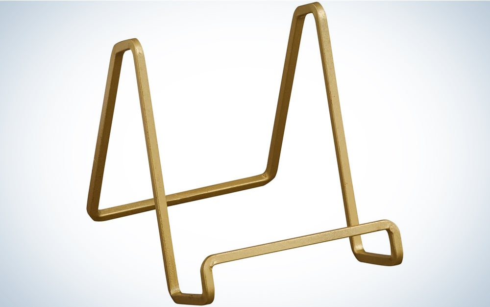 Tripar 4-Inch Metal Gold Square Wire Stand/Platter Stand/ Easel Display