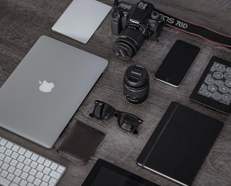 gear on a table