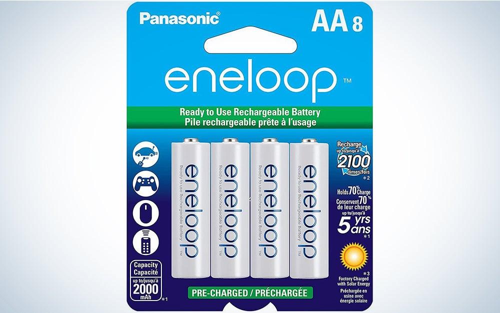 Panasonic BK-3MCCA8BA eneloop AA 2100 Cycle Ni-MH Pre-Charged Rechargeable Batteries