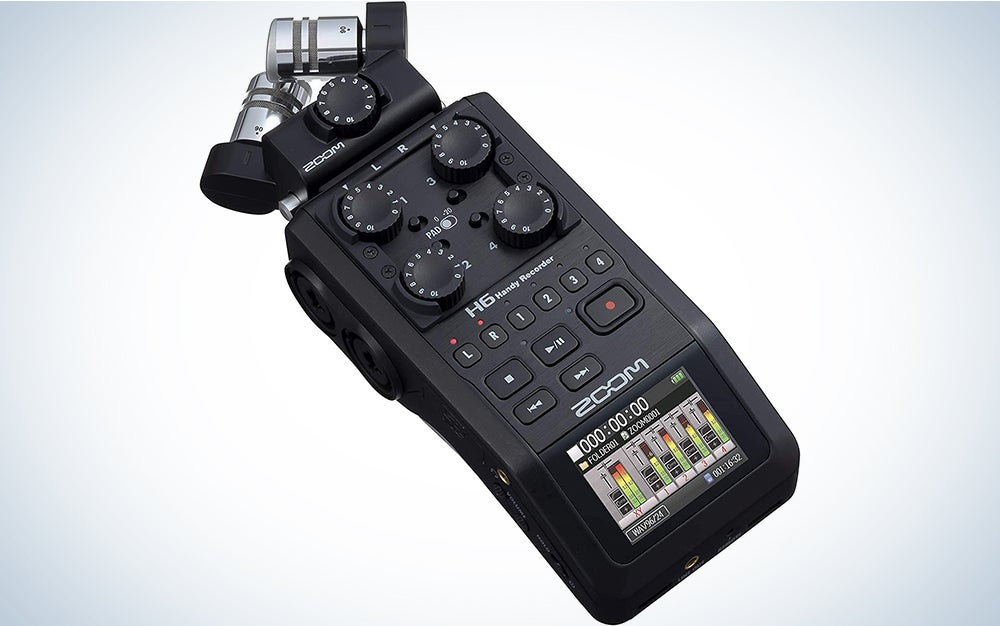 Zoom H6 All Black 6-Track Portable Recorder