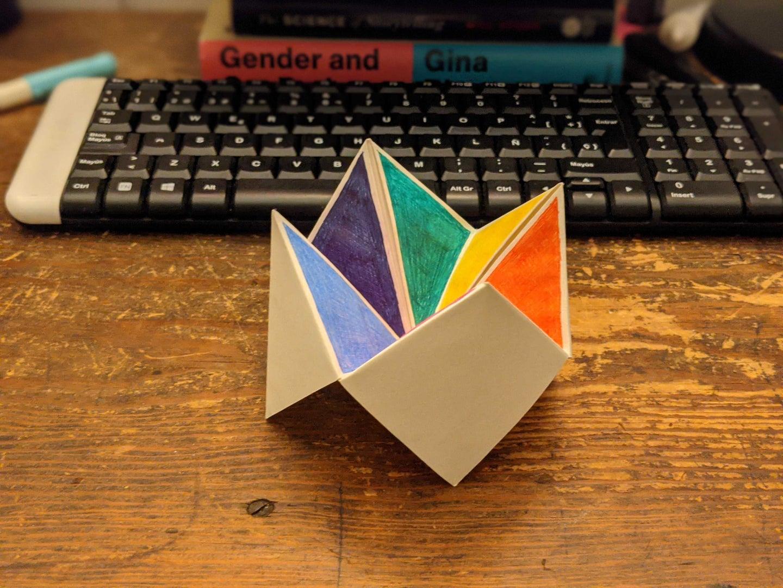 a paper fortune teller
