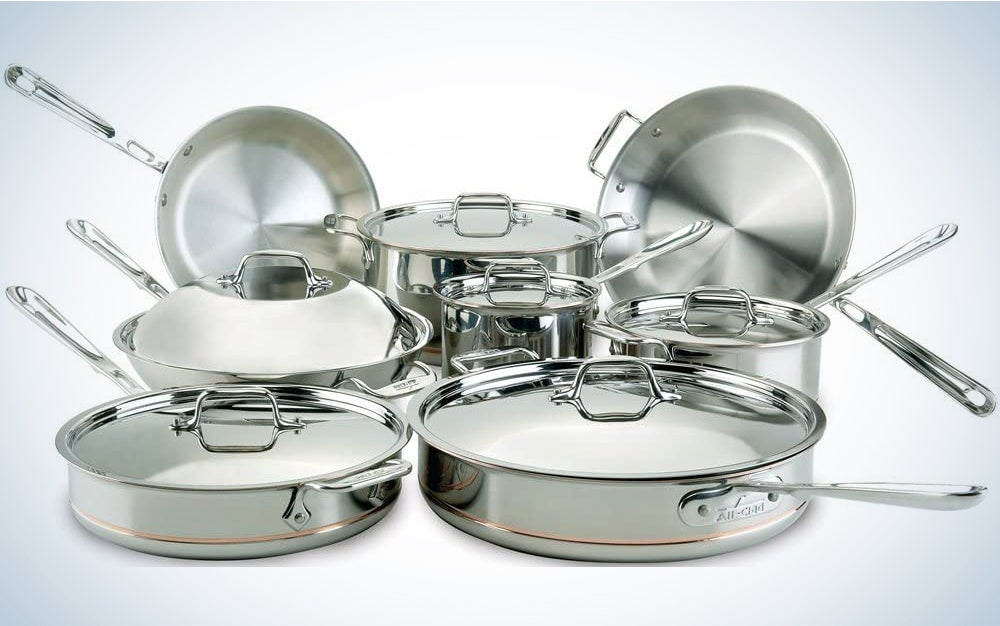 All-Clad 60090 Copper Core 5-Ply Bonded Dishwasher Safe Cookware Set