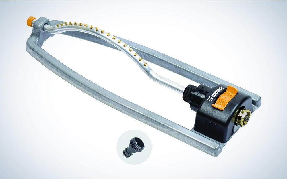 Melnor Metal Oscillating Sprinkler with QuickConnectProduct Adapter Watering Set