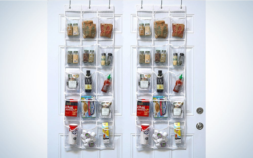 SimpleHouseware Crystal Clear Over The Door Organizer
