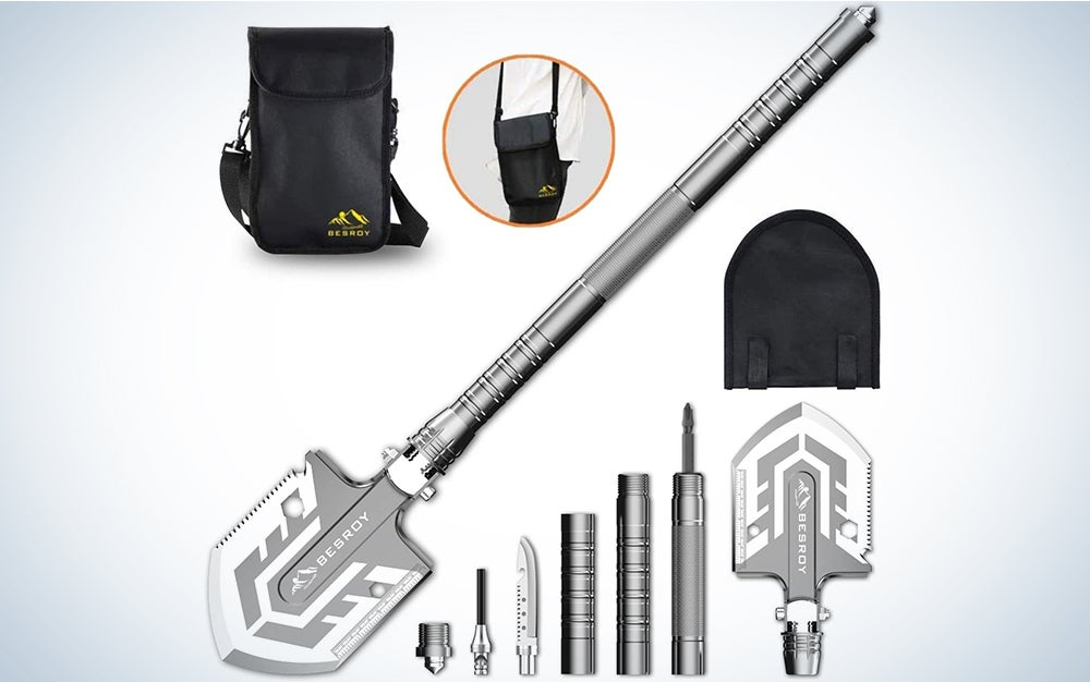 Folding Shovel Multitool-180 Degree Folding Shovel-Camping Shovels - 23 in 1 Survival Shovel Multifunctional