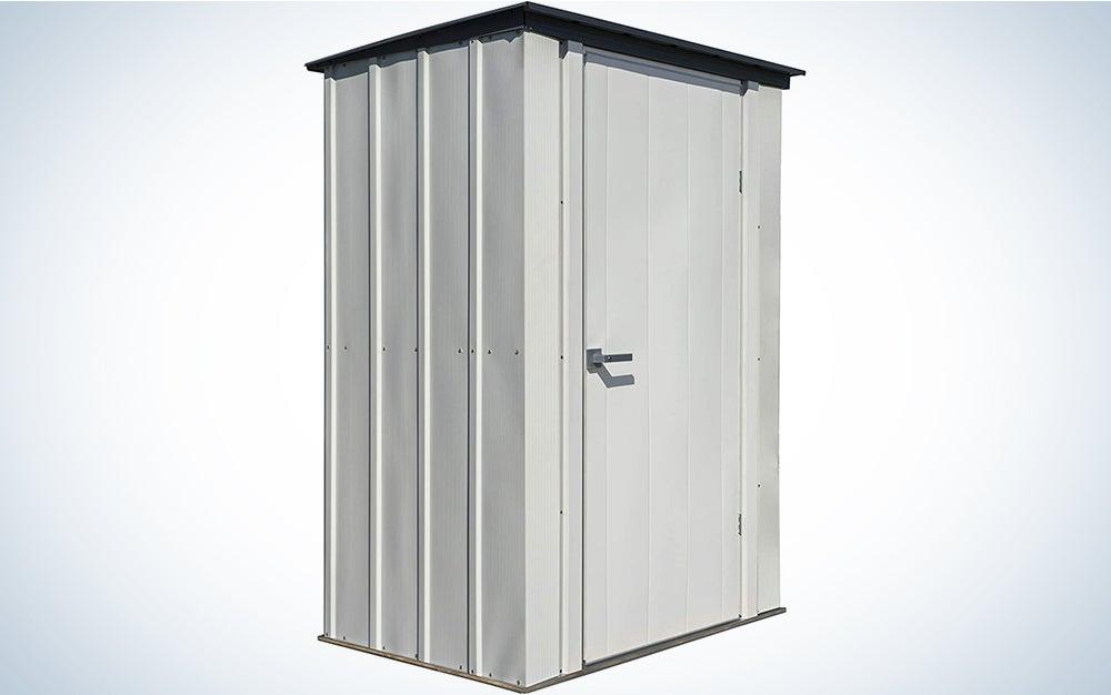 Arrow Shed Designed 5′ x 3′ x 6′ Compact Outdoor Metal Backyard, Patio, and Garden Shed Kit, 5′ x 3′