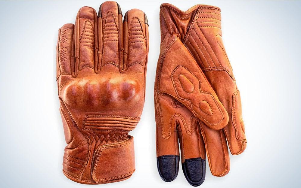 Indie Ridge Premium Leather Motorcycle Gloves